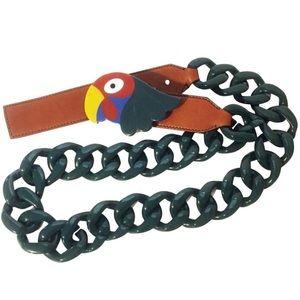 Prada Rare Bakelite parrot buckle belt or necklace